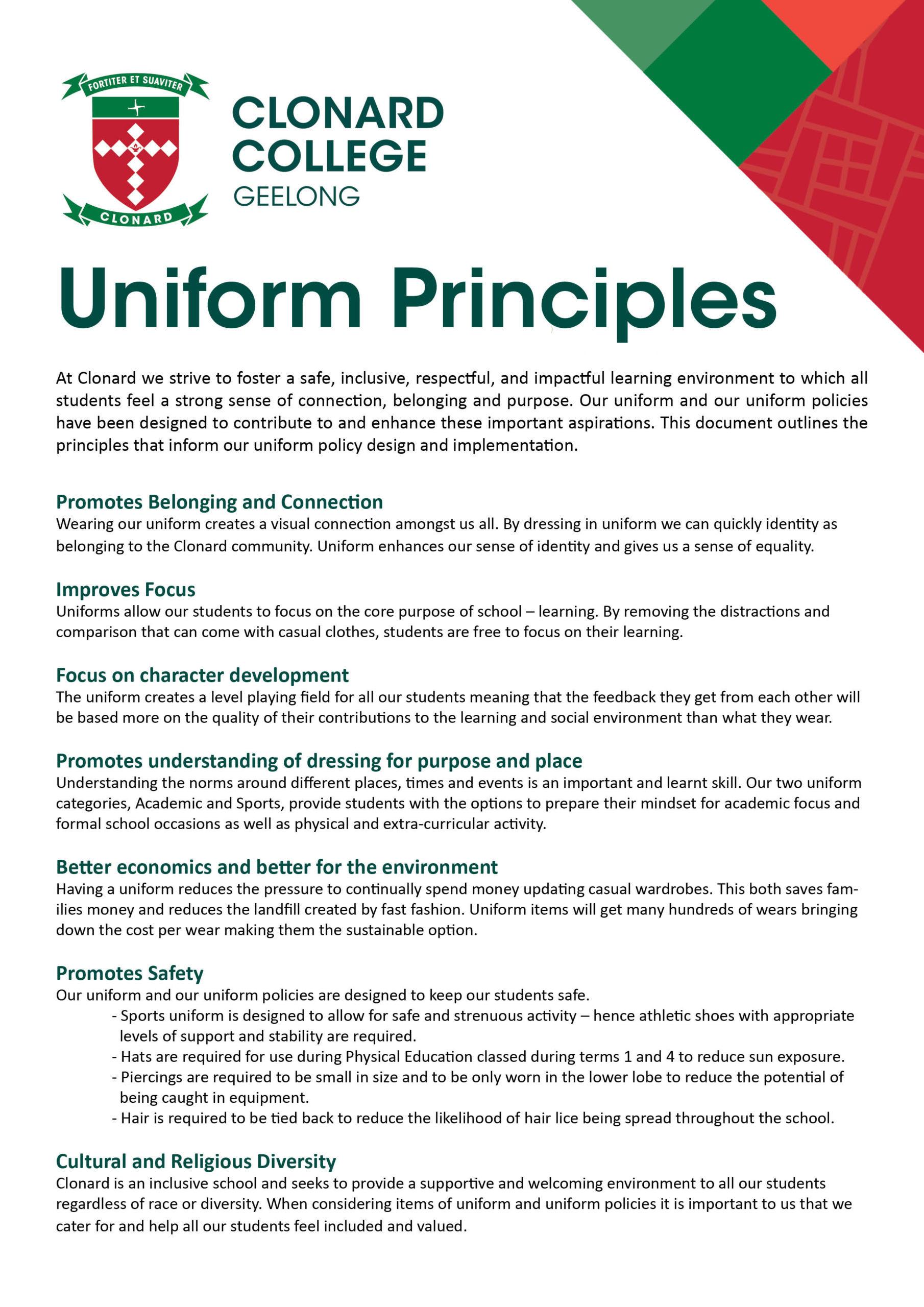 Uniform Principles